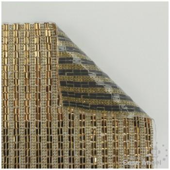 PLANCHA CRISTAL DORADO TERMOADHESIVO 24x40cm