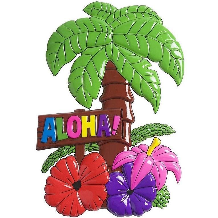 PALMERA ALOHA CON FLORES
