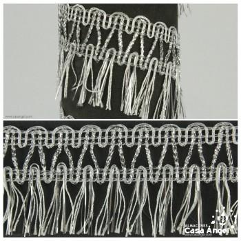 FLECO METALIZADO DOBLE RIBETE ONDULINA 4cm