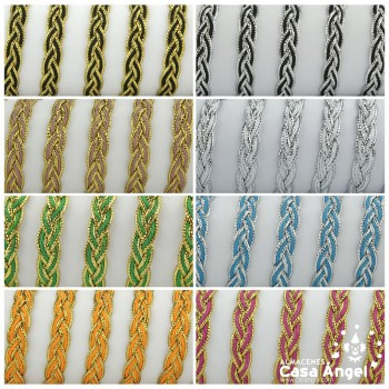 TRENZA METALIZADA BICOLOR 10mm