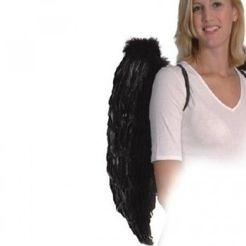ALAS DE ANGEL PLUMAS NEGRO 65cm