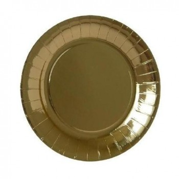 PLATOS DESECHABLES COLOR ORO