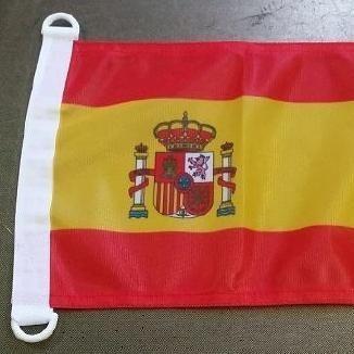 BANDERA ESPAÑA CON ESCUDO 30cm