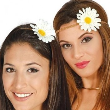 DIADEMA DE FLORES HIPPIES
