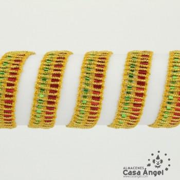 PASAMANERÍA LÁMINAS INTRINCADAS BORDADO REJILLA 10mm